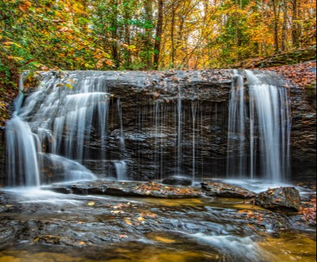 Greer waterfall in the autumn.