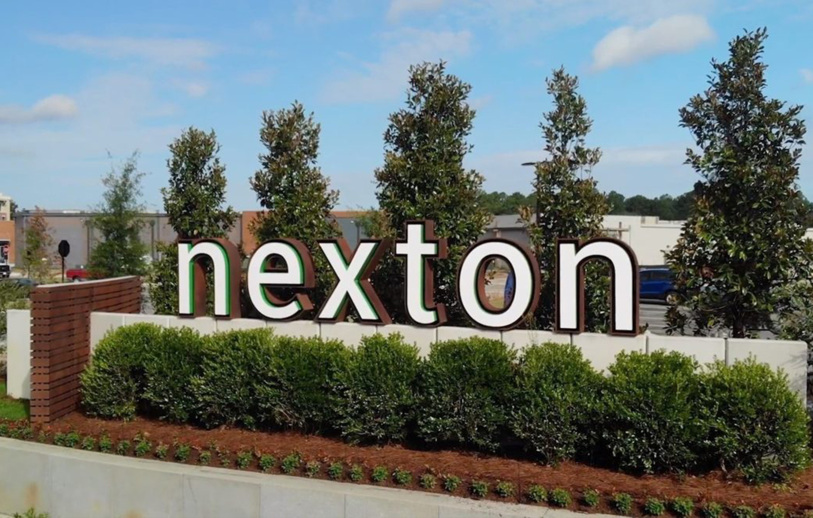 Photo of the Nexton development sign in Summerville, SC.